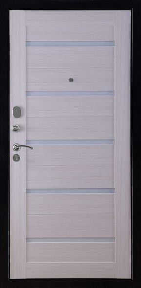 ВЕКТОР Лофт Х7 Внутренняя отделка кремовая лиственница Lacobel белое
