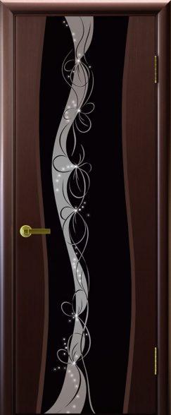 Камелия 2 венге чёрный триплекс рисунок Лацио(Склад)