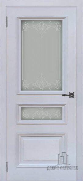 Неаполь 2 серый шелк RAL7047, стекло Верокко