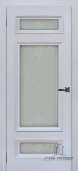 Неаполь 3 серый шелк RAL7047, стекло Версаль
